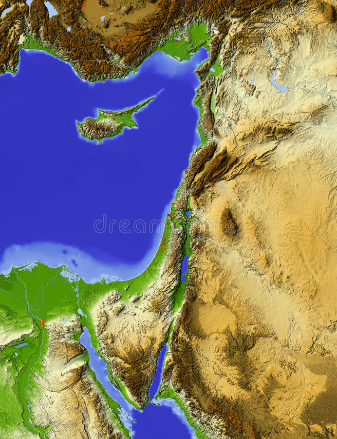 Palestine, relief map
