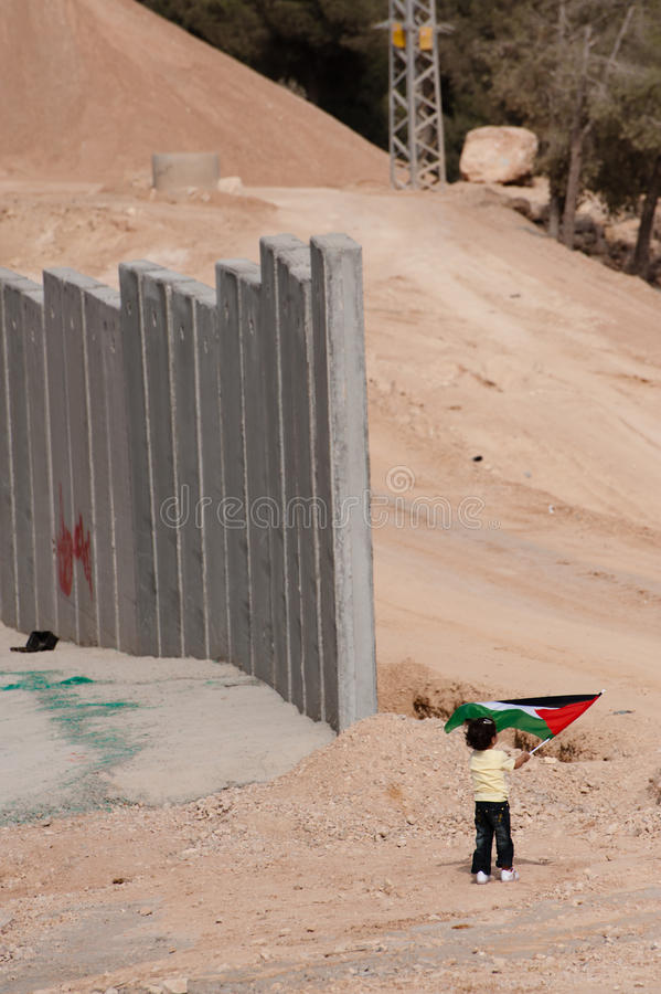 Download Palestinian Girl And Israeli Separation Barrier Editorial Stock Image - Image: 16960934