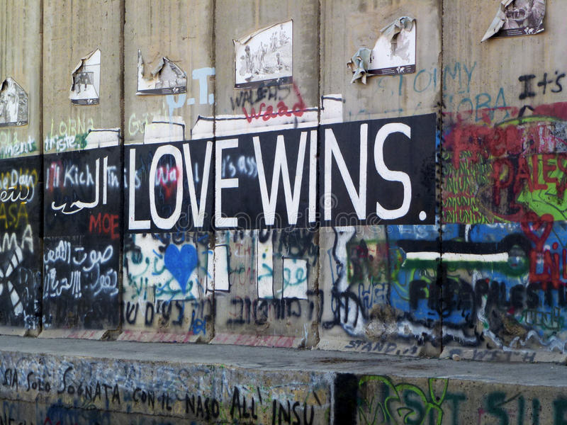 Palestinian graffiti in Bethlehem stock photography