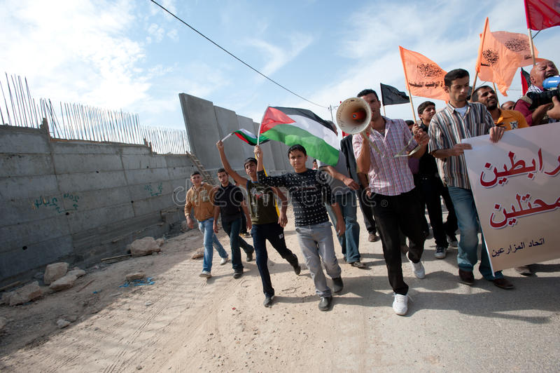 Palestinian Nonviolent Activism royalty free stock photo