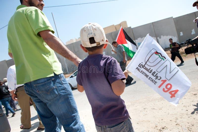Palestinian Statehood Demonstration stock photo