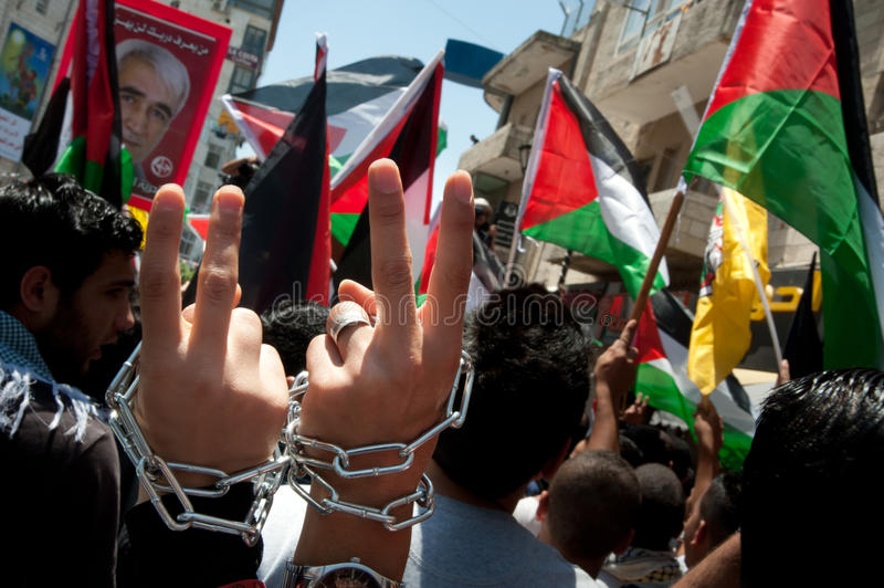 Download Palestinians March To Demand Freedom For Prisoners Editorial Stock Photo - Image: 24802118