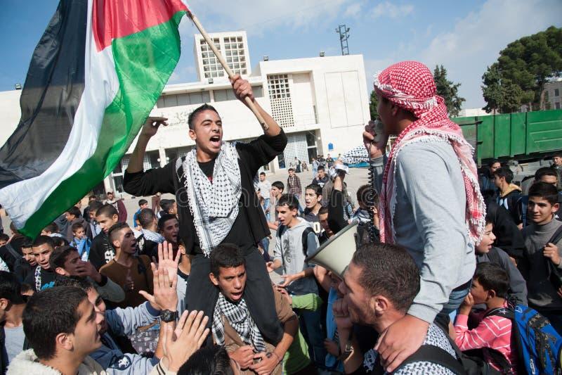PalestinierprotestGaza attacker fotografering för bildbyråer