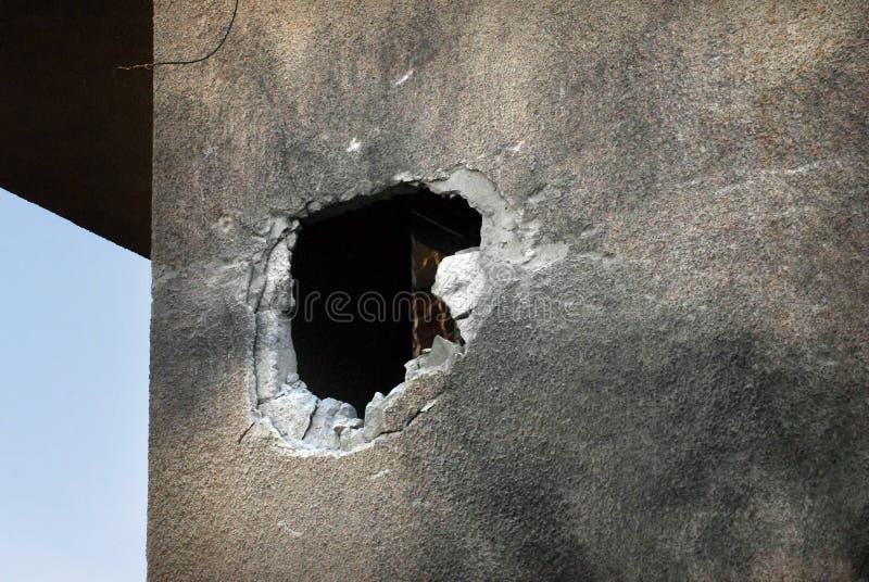 Palestinska raketattacker på Israel arkivfoto