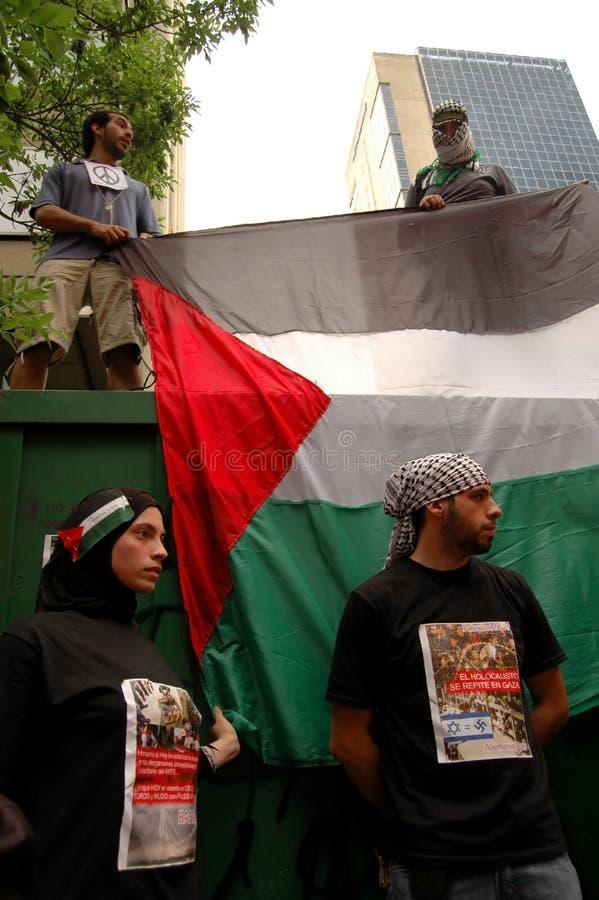 palestinska supportrar royaltyfria bilder