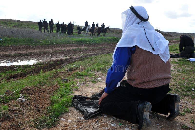 palestinskt be för folk arkivbilder