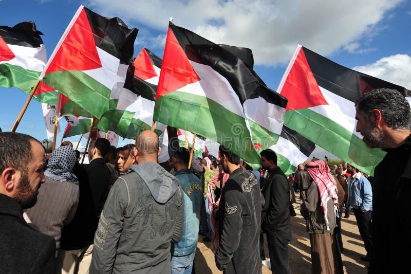 palestinskt protestera för folk fotografering för bildbyråer