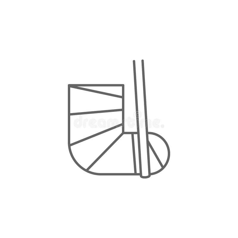 Palestra, fisioterapia, icona della gamba Elemento dell'icona di fisioterapia Linea sottile icona per progettazione del sito Web  illustrazione vettoriale