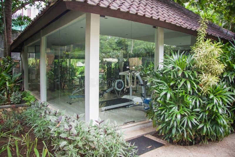 Palestra in hotel in Bali fotografia stock