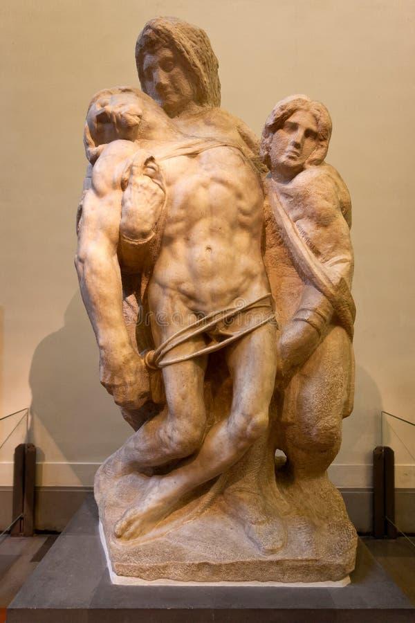 Palestrina PietàMiguel Ángel, ` Accademia, Florencia, Italia del dell del Galleria fotos de archivo