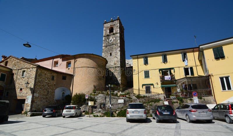 Palestro square. Colonnata. Apuan alps. Tuscany. Italy royalty free stock image