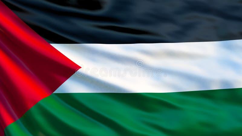 Palestyna flaga Machać flagę Palestyna 3d ilustracja royalty ilustracja