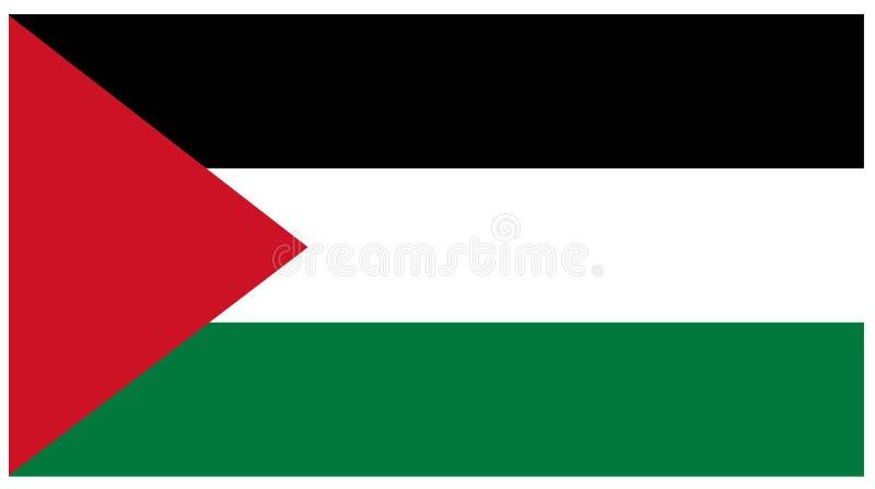 Palestyna flaga - sztandar ilustracja wektor