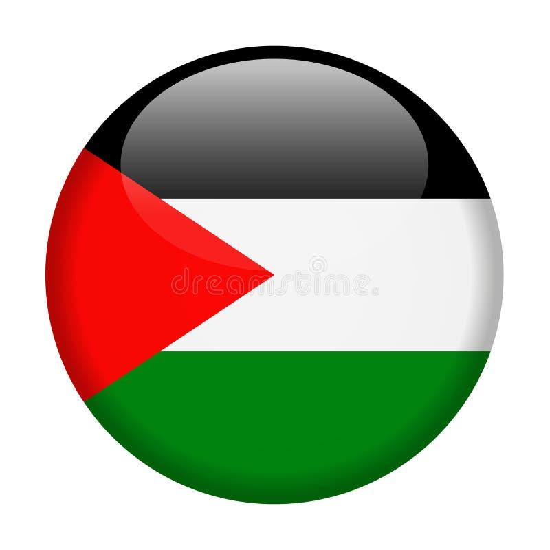 Palestyna flaga Wektorowa Round ikona royalty ilustracja