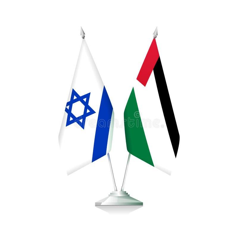 Palestyna i Izrael flagi ilustracji