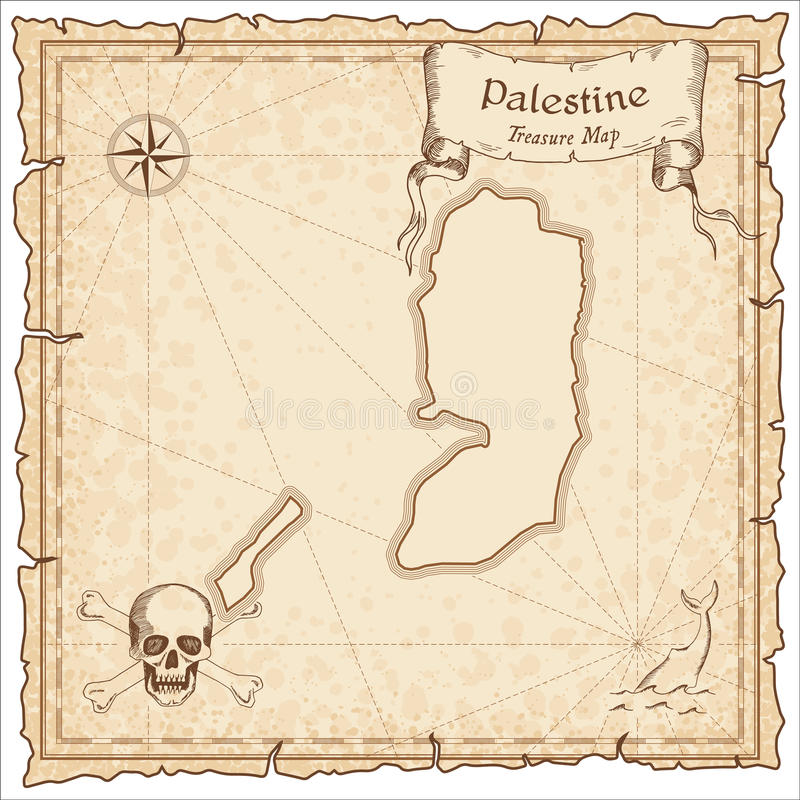 Palestyna pirata stara mapa ilustracji