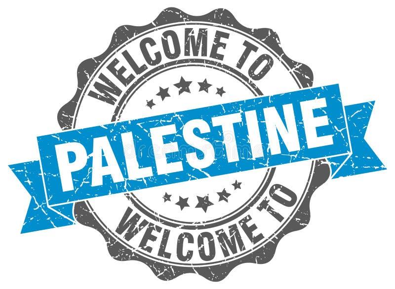 Palestyna round tasiemkowa foka ilustracja wektor