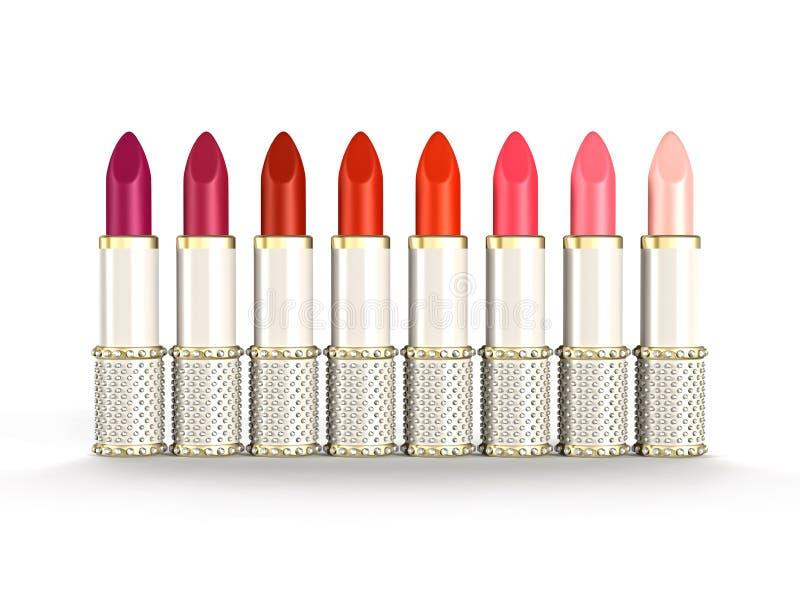 Palet van de Lippenstiften van de Luxe stock illustratie