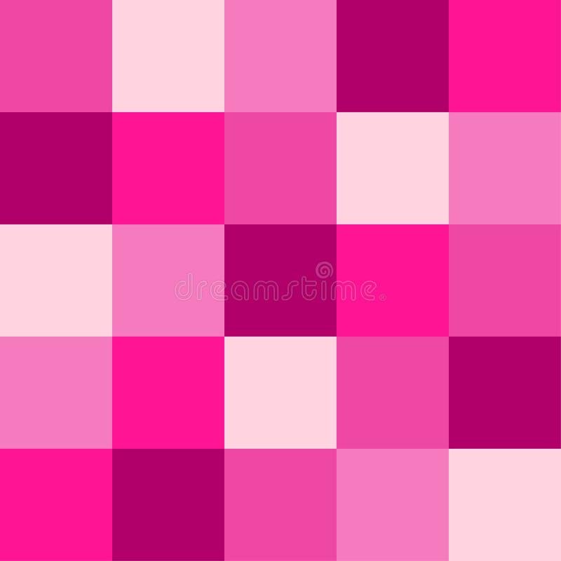 Palet van de in neon het Plastic Roze 2019 Kleur als abstracte naadloze achtergrond royalty-vrije illustratie