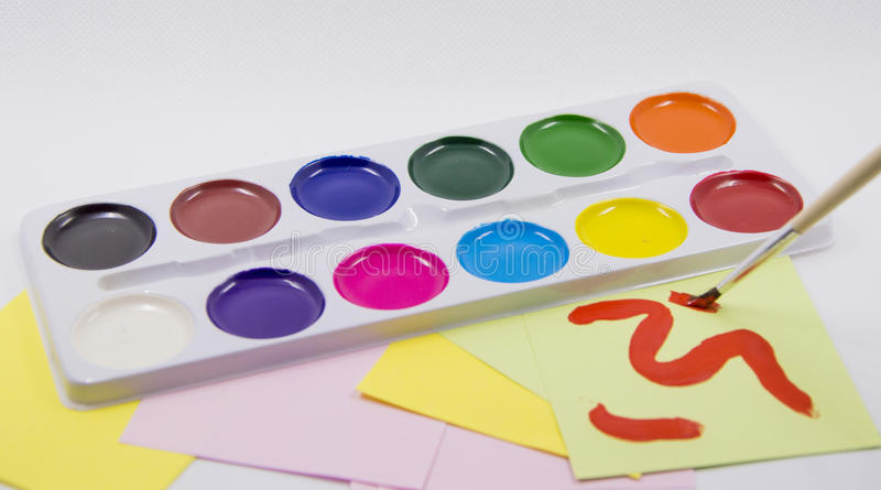 Palet van kleur royalty-vrije stock afbeelding