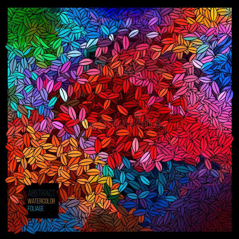 Paleta abstracta de la acuarela del vector ilustración del vector