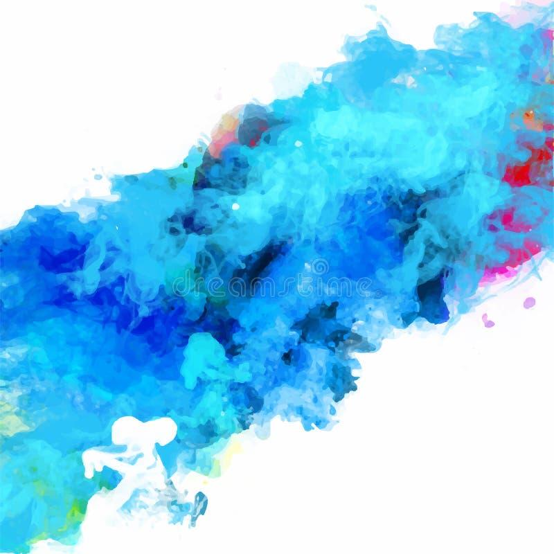 Paleta abstracta de la acuarela del vector de los colores de la mezcla libre illustration