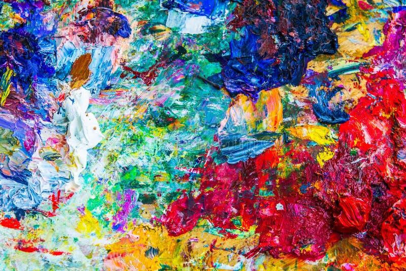 Paleta artística abstrata foto de stock