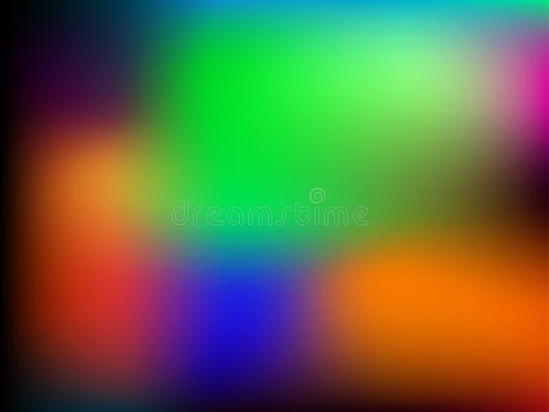 Paleta brilhante Fundo suculento das cores Máscaras do RGB da saturação Inclinação da malha para aplicações da Web e do móbil ilustração stock