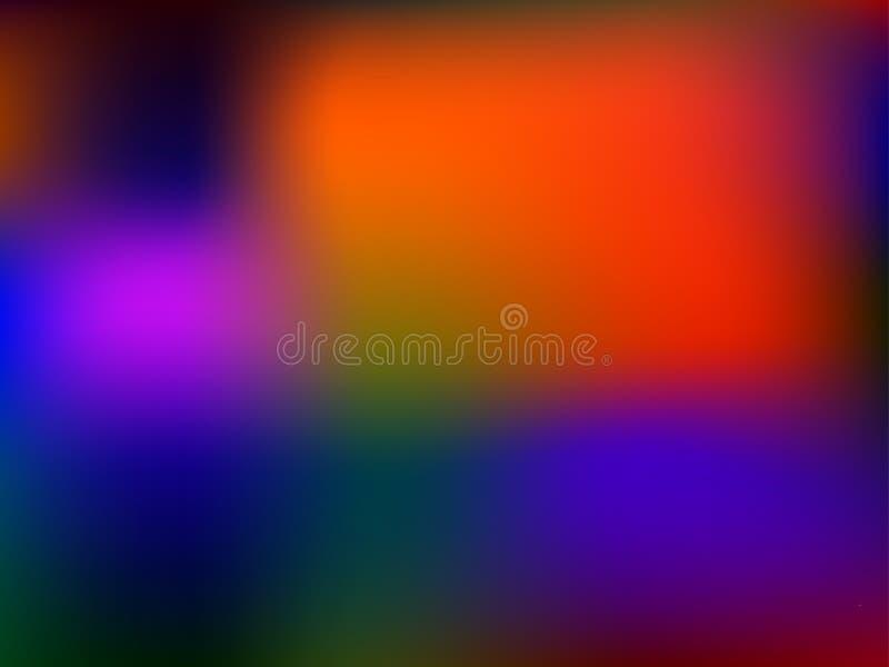 Paleta brilhante Fundo suculento das cores Máscaras do RGB da saturação Inclinação da malha para aplicações da Web e do móbil ilustração do vetor