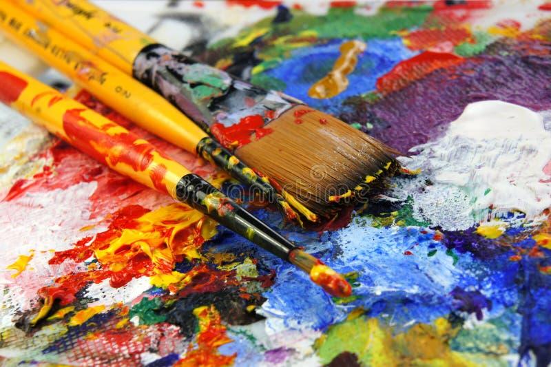 Download Paleta da arte foto de stock. Imagem de azul, óleo, mistura - 26507404