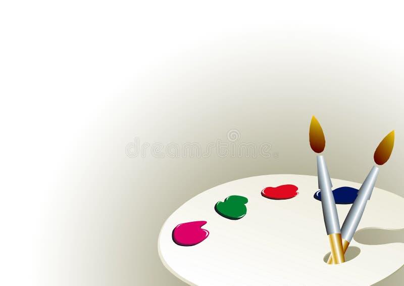 Paleta da cor   ilustração stock
