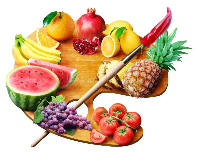 Paleta da fruta fotografia de stock