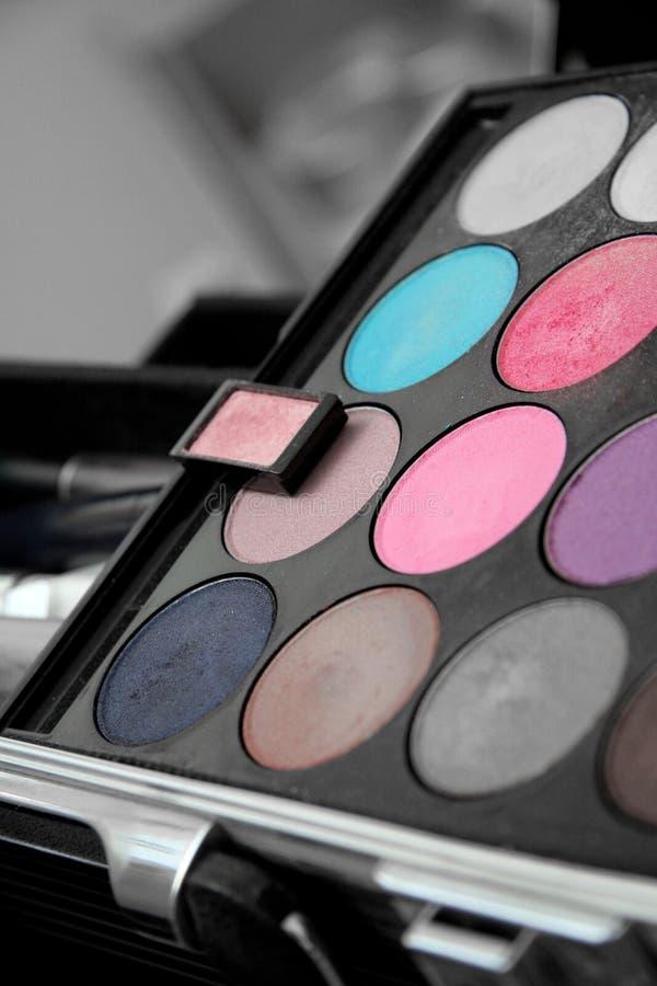 Paleta da sombra para os olhos foto de stock