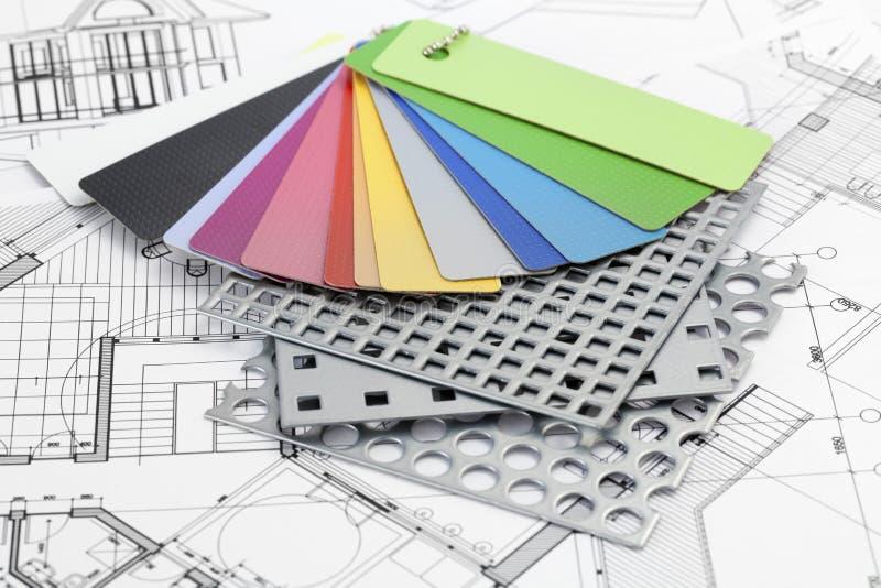 Paleta de amostras da cor de plásticos imagens de stock royalty free