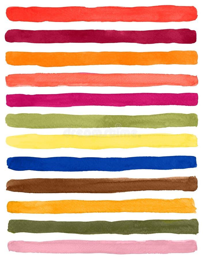 Paleta de colores artística de la acuarela Los colores de moda saltan el verano 2019 libre illustration