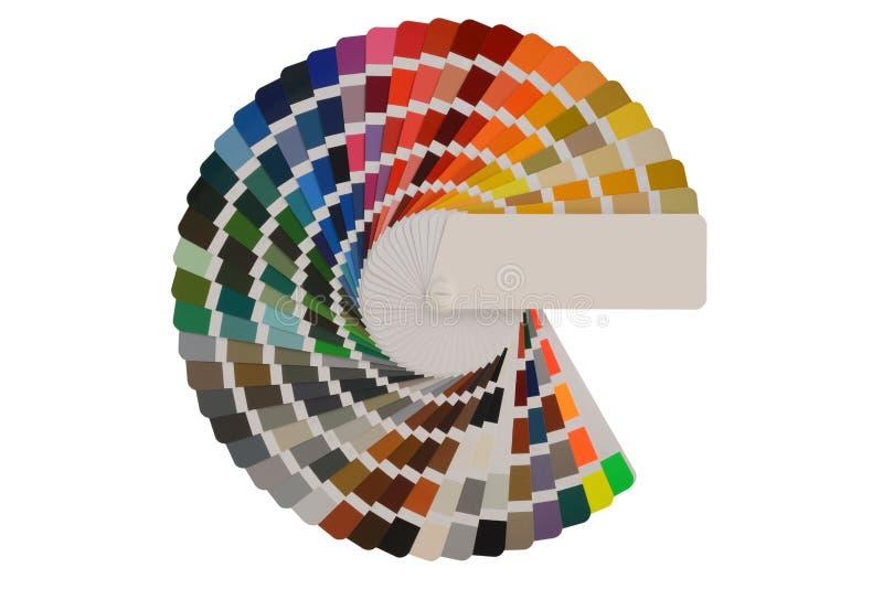 Paleta de colores con las diversas muestras fotografía de archivo libre de regalías