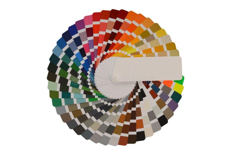 Paleta de colores con las diversas muestras foto de archivo