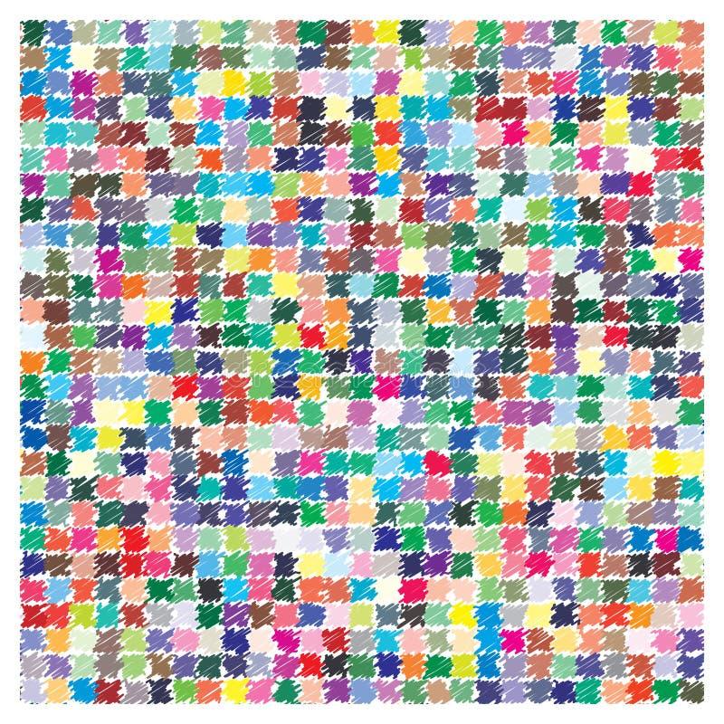 Paleta de colores del vector 729 diversos colores stock de ilustración