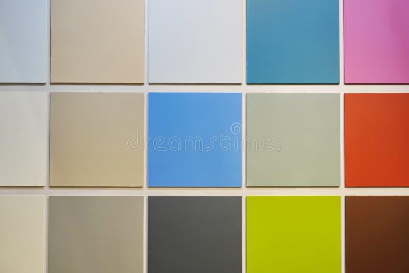 Paleta de colores de sondas de pintura elegir un color durante la reparación, pintar las paredes o el techo, fondo o protector de ilustración del vector