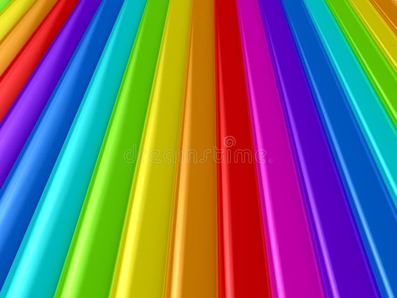 Paleta de cor sobre o fundo ilustração do vetor