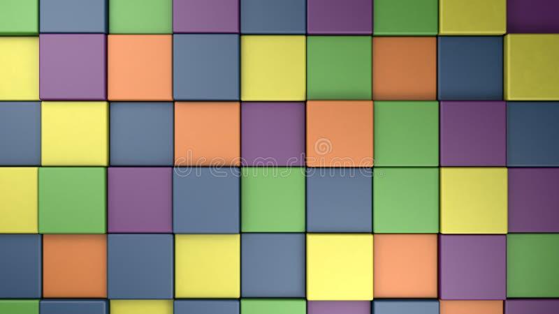 Paleta de cores colorida abstrata do verão da mola da fantasia, 3d para render ilustração royalty free