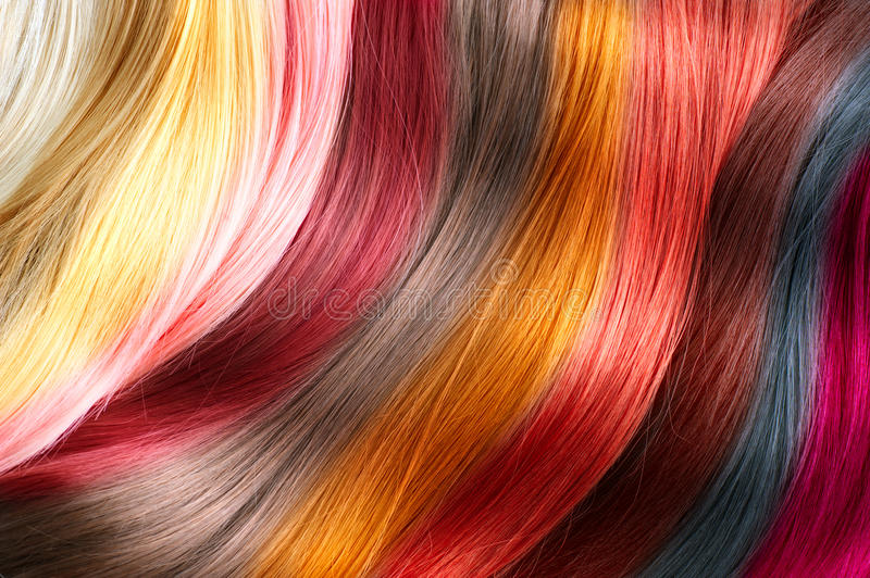 Paleta de cores do cabelo fotografia de stock royalty free