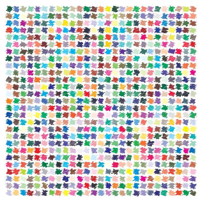 Paleta de cores do vetor 729 cores diferentes ilustração do vetor