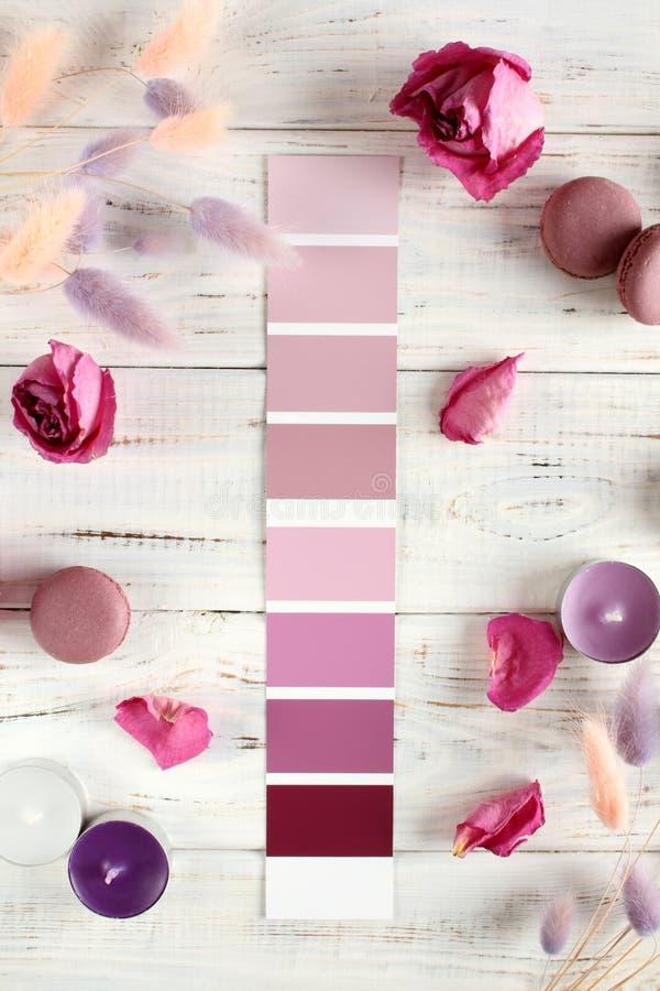 Paleta de cores violeta fotografia de stock royalty free