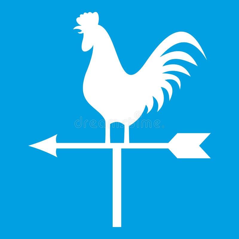 Paleta de tiempo con blanco del icono del gallo ilustración del vector