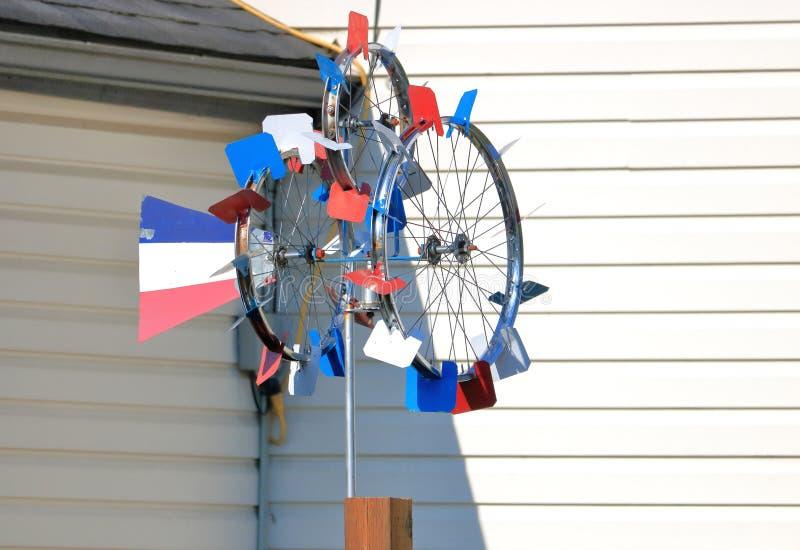 Paleta de viento hecha en casa colorida del tiempo fotos de archivo