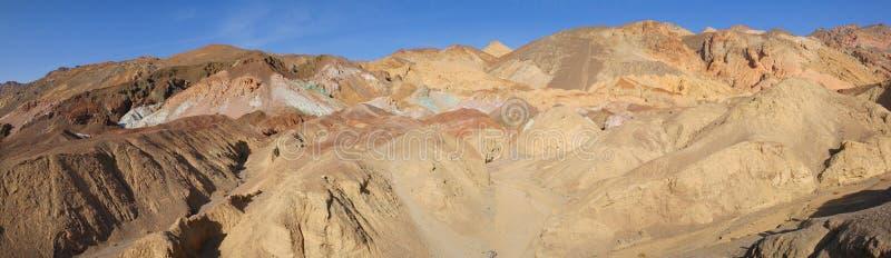 Paleta Death Valley - panorama de los pintores fotografía de archivo