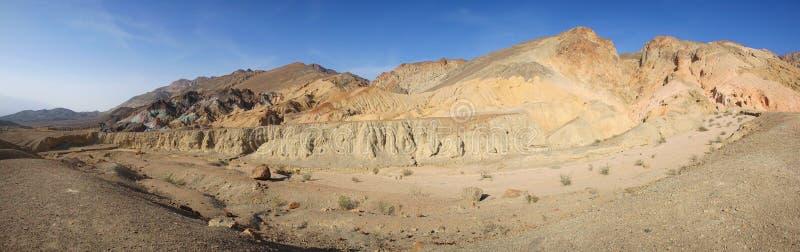 Paleta Death Valley - panorama de los pintores imagen de archivo libre de regalías