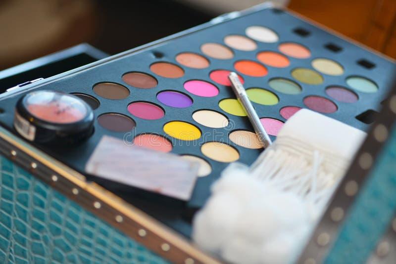 Paleta del maquillaje fotografía de archivo