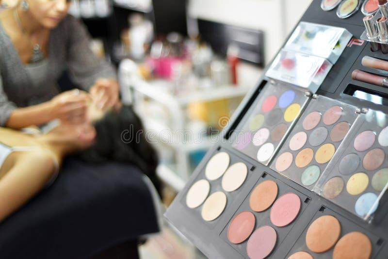 Paleta del maquillaje fotos de archivo